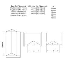 april identiti2 bi fold shower door with optional side panel
