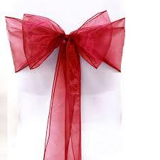 Chair Sashes Wedding Online Shop 50 Pcs Set Organza Tulle Bow Chair Sash Wedding Party