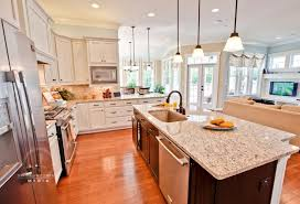 white kitchen open concept interior design