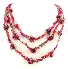 ladder ribbon free crochet pattern ladder ribbon necklace pattern 3