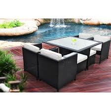 How To Fix Wicker Patio Furniture - amazon com manhattan 9 piece patio furniture outdoor dining set