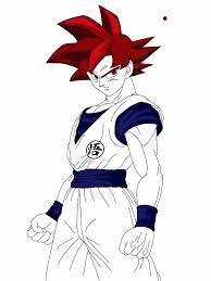 super saiyan god goku colored unfinished by delvallejoel on