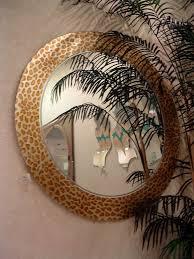 Etched Bathroom Mirror Leopard Decorative Mirrors Sans Soucie