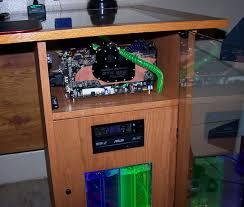 desk mod custom gaming rig built into a desk nvidia