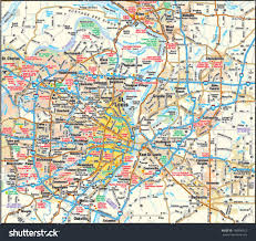 map st louis st louis missouri area map stock vector 146090012