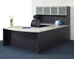 Grey Office Desks Astonishing Grey Office Furniture With U Shape Decor Combined