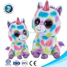 ty beanie boos colorful unicorn plush toy wholesale cheap cute big
