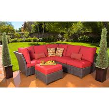Rushreed Piece Outdoor Sectional Sofa Set Red Walmartcom - Outdoor sectional sofas