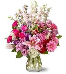 floral arrangement in pink mixed floral arrangement in monument co
