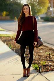 skater dress with tights and boots naf dresses