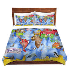 unique comforter covers marley ungaro this world royal blue map