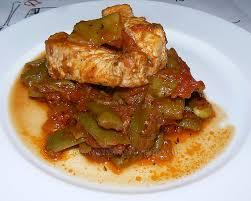 cuisiner des haricots plats haricots plats sauce provençale et bâtons de porc une cuisine