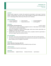 Finance Objective For Resume Financial Planner Cv Ctgoodjobs Powered By Career Times