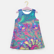 turquoise coral reef fantasy fractal u0027s summer dress sale
