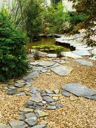 beautiful examples of using mulch rocks and pavers in florida as