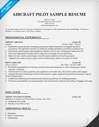 Pilot Sample Resume Lofty Idea by Pilot Resume Template Haadyaooverbayresort Com