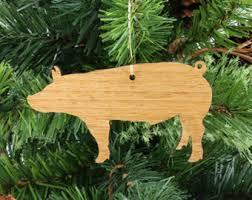 pig ornaments etsy