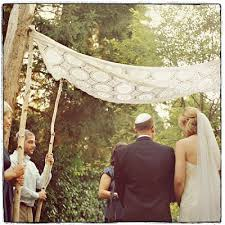 chuppah poles a jersey hootenanny wedding tree branch arbor