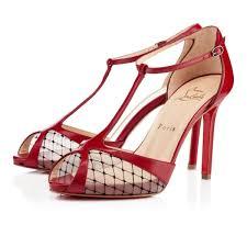 chaussure louboutin pas cher escarpins lagoula resille 100mm rouge