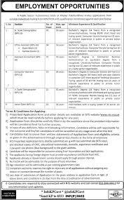 jobs public sector organization autonomous body khyber pakhtunkhwa