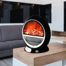 small fireplace space heater electric mini portable flame bedroom