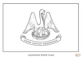 flag of louisiana coloring page free printable coloring pages
