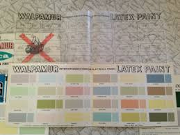 colours of the 1950s paint colour sample card for walpamur latex