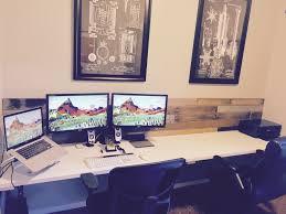 mac setup triple display macbook pro workstation