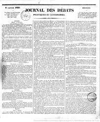 bureau num ique du directeur journal des débats politiques et littéraires 1830 01 06 meae