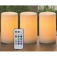 outdoor indoor flameless candles with timer and