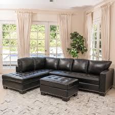 home loft concepts gains leather sectional u0026 reviews wayfair