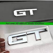 mustang gt decals and emblems aliexpress com buy 3d abs gt snake emblem logo side