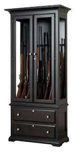 Pine Gun Cabinet Solid Oak Gun Cabinet Amish Handcrafted Solid Wood Gun Cabinet