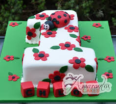 ladybug birthday cake number one with bug ac30 amarantos cakes