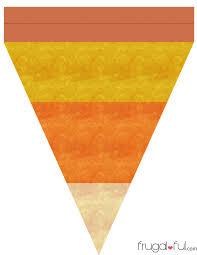 diy free printable halloween triangle banner template frugalful com