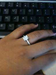 radiant cut halo engagement rings radiant cut ring in halo setting pics anyone weddingbee