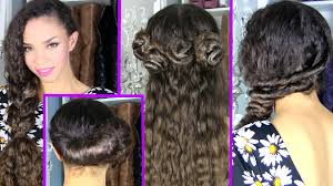 6 quick and easy date hairstyles u0026 cute hairstyles youtube