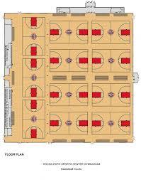 basketball floor plan cocoa expo sports center