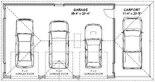 size of a three car garage standard one car garage size 3 car garage dimensions standard google