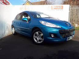 peugeot blue used peugeot 207 hatchback 1 4 sportium 5dr in morecambe