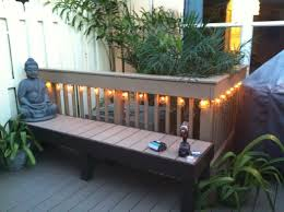 outdoor room bench made out of pvccomposite decking remnants and