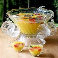 vintage cocktail set large glass punch bowl set with 12 cups at drinkstuff com