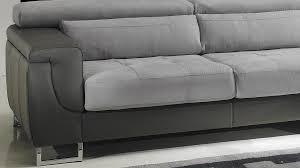canap cuir et microfibre canapé d angle droit cuir microfibre gris pas cher canapé angle design