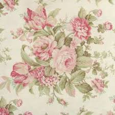Pink Home Decor Fabric Bramble Floral 100 Cotton Duck Washed With Weathered