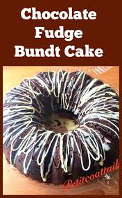 chocolate fudge bundt cake with a chocolate ganache topping