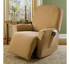 amazon com sure fit stretch pique recliner slipcover antique