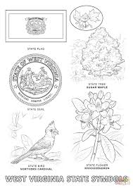 west virginia state symbols coloring page free printable