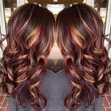 curly hair with lowlights hair color trends 2017 2018 highlights nice brunette hair