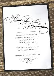 wedding invitations exle popular wedding invitation 2017
