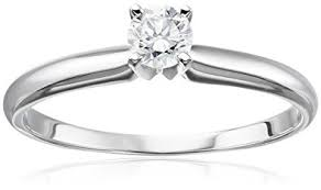 1 4 carat engagement ring 14k white gold solitaire engagement ring